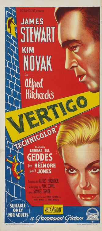 In honor of Vertigo becoming the BFI's top film of all time, here are a bunch of its posters from around the world.