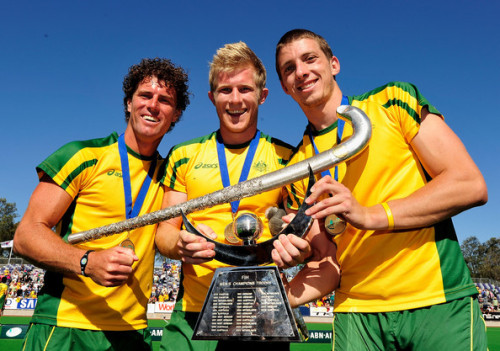 Matthew Butturini, Simon Orchard, and Brent Livermore Team Australia Hockey