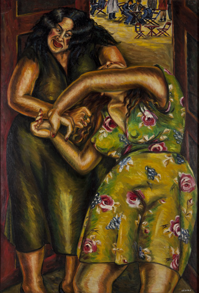 Débora Arango (Colombia, 1907-2005) La lucha del destino / The Struggle of Fate, 1944 Oil on canvas Collection of Museo de Arte Moderno de Medellín, Colombia Photo: Carlos Tobón