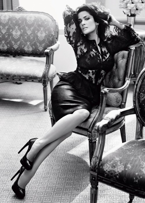 thecysight:   VOGUE GERMANY SEPTEMBER 2012 Salma Hayek by Alexi Lubomirski