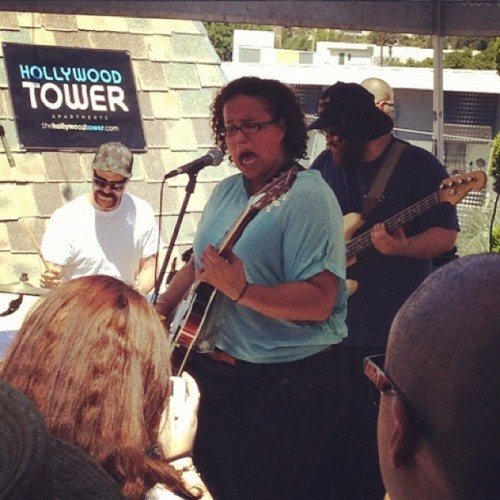 Alabama Shakes playing the 98.7 Hollywood Tower in LA this afternoon!