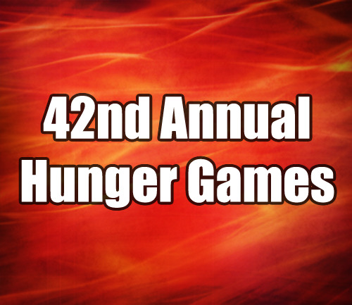 → 42nd Annual Hunger Games ←  We need both tributes for Districts 4, 5, 9, 10, and 11. We need a male tribute for Districts 2, 3, 6, and 8.  We need a female tribute for District 1. We need a mentor for Districts 4, 5, 7, 8, 9, 10, and 11.