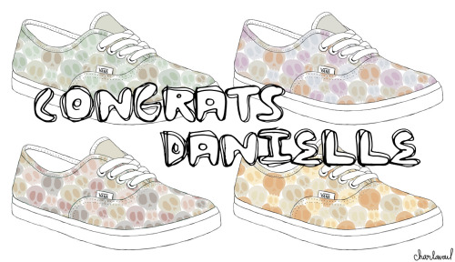 Thanks to everyone who entered, we've drawn a winner for the custom Vans painted by Charlavail giveaway. Congrats to Danielle! We'll be in touch soon to get all your info for your shoes. -amanda
