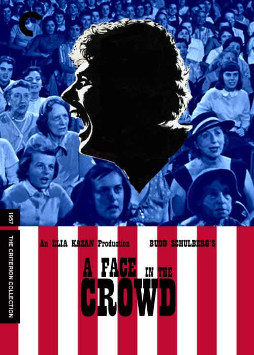 shellacandvinyl:  For Andy. Fake criterion for A Face In The Crowd, directed by Elia Kazan. 1957.  I just saw this for the first time about four days ago. If you're ever interested in seeing Andy Griffith play a despicable humn abeingreally, really well, see it. It is great.