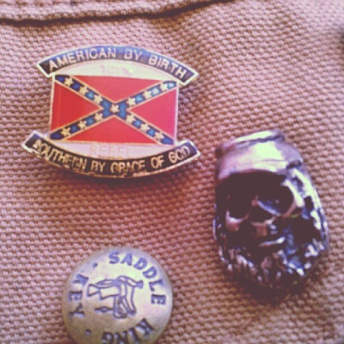 101% REBEL #lonerangersmc #pin #american #southern #confederacy #knowyourhistory (Taken with Instagram at Satan's Butthole)