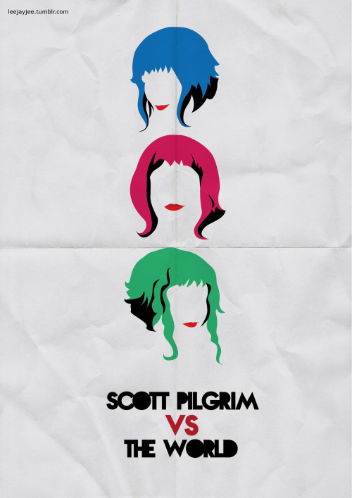 Scott Pilgrim Vs The World - by Leah Jacobs-Gordon (via: minimalmovieposters)