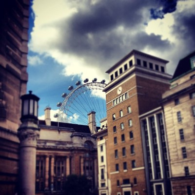 #London #Eye view from the #Tour #Bus  (Taken with Instagram at The London Eye)