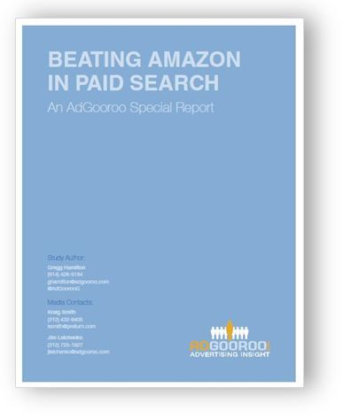 "Find out how retailers are ""Beating Amazon in Paid Search"" - An Adgooroo Special report. Enjoy the read and if you need any Search support, please drop me a line. Mauricio"