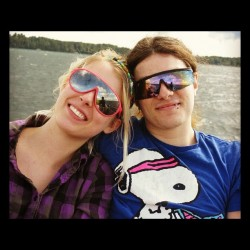 On the lake with my love @badnrad 💜 (Taken with Instagram)