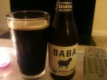 "Beer seven of 100 Beers in 100 Days is brought to you by Uinta Brewery. Baba Black Lager is obviously a deep dark brew and literally my first reaction was ""Omg bacon!"" I felt this reaction in the best of ways. It's smokiness has that hickory taste that makes bacon even better and it seems to have had the same effect here. It adds to the smooth and rich taste. If you are craving a delicious dark beer then this is an excellent choice.  Bonus: It's USDA certified organic.  This is definitely going on my list of regular purchases for the coming cool weather. I would imagine this would be an awesome choice for cooking with too. Can't wait to test that theory. 8/10"