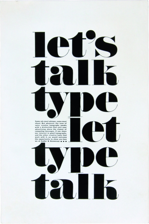 typophile-gangsta:  Let's talk type by Herb Lubalin