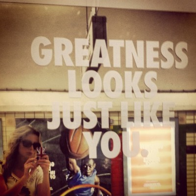 I found #greatness today @NikeRunning ;)  (Taken with Instagram)