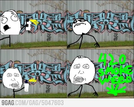 9gag:  This really annoys me when I see graffiti