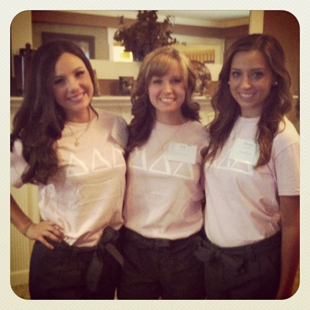 The fam all together for rush :) (Taken with Instagram at Delta Delta Delta)