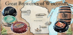 A commissioned painting of the great breweries of Wisconsin.