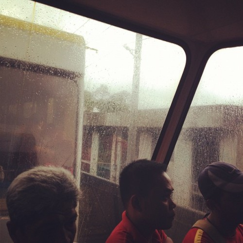 Rainy #rain #manila #lrt #urban #igersmanila  (Taken with Instagram)