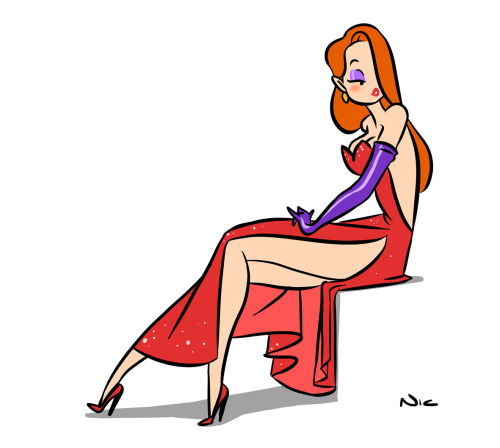 nicterhorst:  Jessica Rabbit2012Photoshop CS5.1