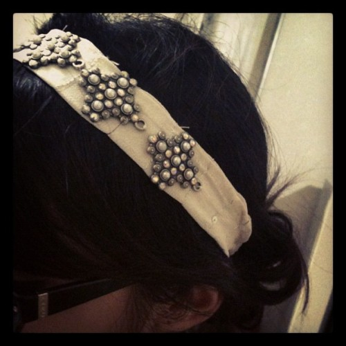 Sneak peek of my #diy 1920s headband for the Jazz Age Lawn Party.  (Taken with Instagram)