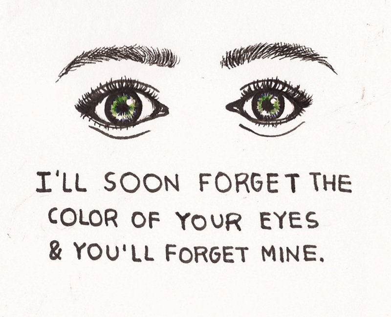 comforting:  sigh sigh i want green eyes
