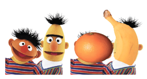 did you know that bert is a banana and ernie is an orange? well if you didn't, now you do. you're welcome.