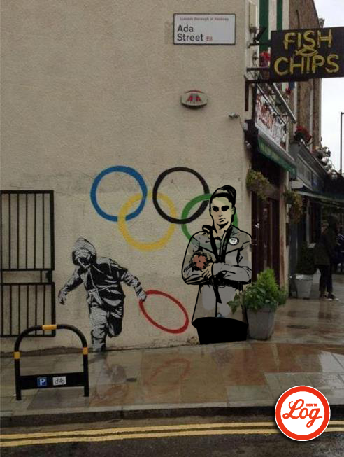"howtolog:  ""Dear Banksy, McKayla is Not Impressed. It's not the gold."" 2012 [Currently 10 in series]"