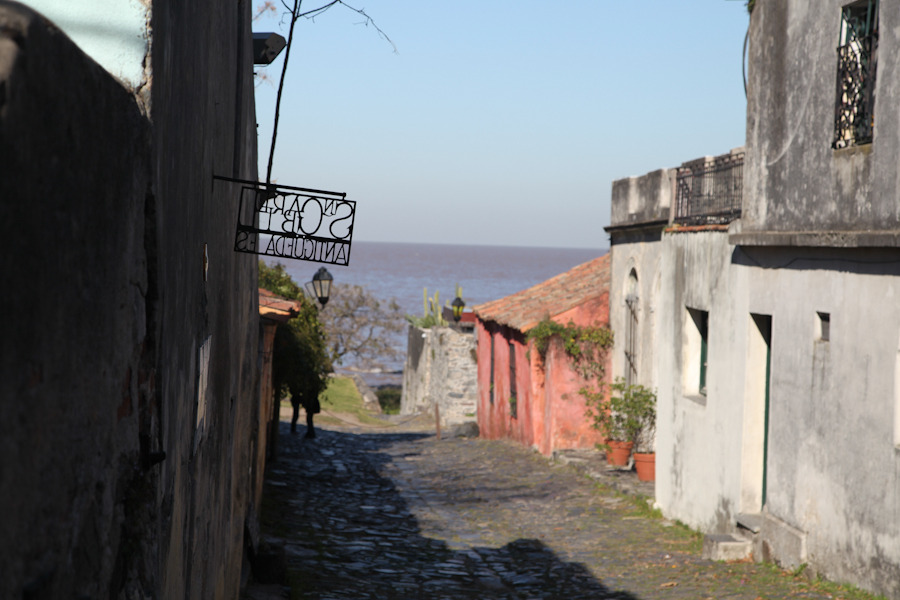 Side trip to Colonia and Montevideo, Uruguay If you're interested in visiting Uruguay from Buenos Aires, it's very easy. You can take a quick boat ride via Buquebus, to either Colonia or Montevideo, Uruguay for about $100 round-trip. We opted to take the shorter ride to Colonia in order to enjoy this beautiful colonial town. It was then just a 3-hour bus ride to Montevideo. Our main reason for visiting Uruguay was to participate in el Festival de Cordero y Tannat (The Festival of Lamb and Tannat Wine). Luckily the festival coincided with my sisters' visit and, well, we all love lamb and wine – especially when they're consumed together. Los Caminos del Vino is a group of family owned bodegas that hosts this annual festival. We opted to visit Bodega Bouza Boutique because its menu looked most appealing, it was only a short taxi ride from Montevideo, and because it has a fabulous classic car museum. We were all extremely pleased with our meals, with the tour, and with the Tannat wine.  Although it was just a quick weekend trip to Uruguay, we all had a great time and would recommend a visit if you're in Buenos Aires. Overall, Colonia is worth seeing to get a small, colonial town fix. Montevideo felt like a much sleepier, maybe even a traquilized version of Buenos Aires and was a nice break from the bustle of the big city. We all wouldn't have minded staying longer, but had to get back for the Sunday San Telmo market.