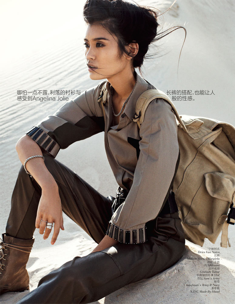 bodyfluids:  Ming Xi photographed by Benny Horne for Vogue China September 2012