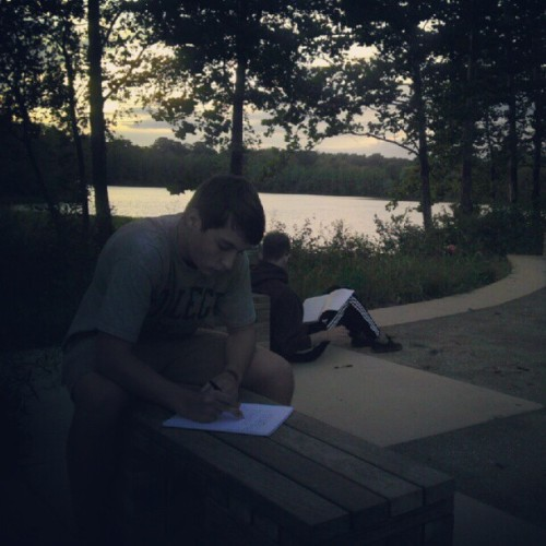 Writing and sunsets. (Taken with Instagram)