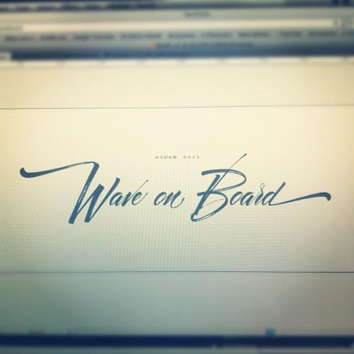 Almost ready #calligraphy #logo #branding (Taken with Instagram)
