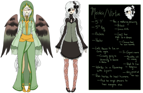 gala-oc-ask:  Medea's new reference  I find it funny that even though I'm not religious, I have a lot of angel OCs