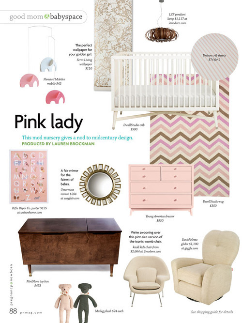 Young America Mix Dresser in Pregnancy Newborn Magazine, August 2012