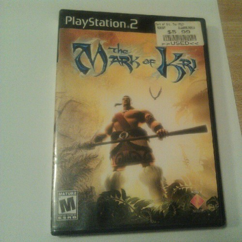 #gaming #gamepics The Mark of Kri (ps2) Was a pretty good game. The action was a mix of combat and stealth.  Some brutal kills could be gotten despite kiddy looking graphics.  (Taken with Instagram)