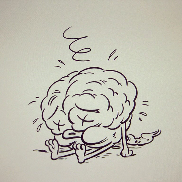 Brain // ink on Cintiq