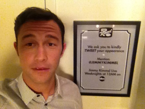 About to go on @JimmyKimmel show.  #PremiumRush