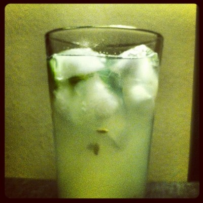 Cucumber Collins after a long day.  (Taken with Instagram)