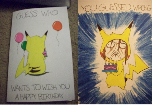 ambiguousintentions:  A birthday card I made for my cousin. I am a good cousin.