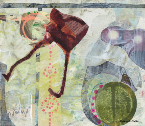 Untitled, Mixed media collage by Alexandra Sheldon available here