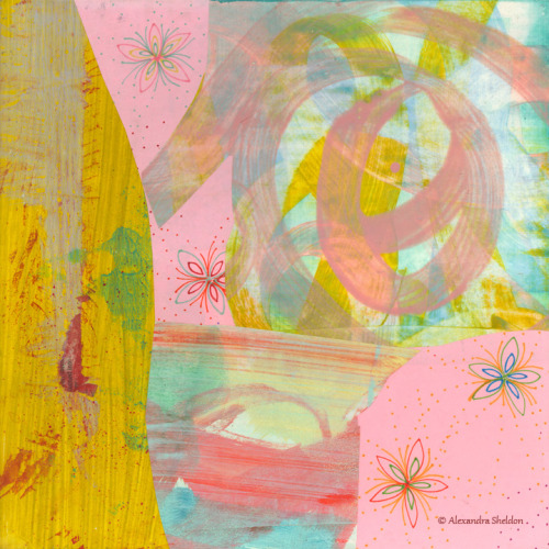 "Cotton Candy by Alexandra Sheldon, mixed media, 12""x12"" prints & Products available here"
