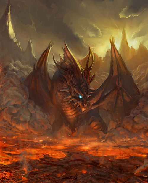 Four-Winged Lava Dragon