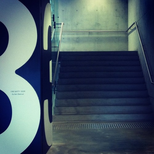 Some MCA for my afternoon off. #stairs #design #type #typography #museum #concrete (Taken with Instagram)