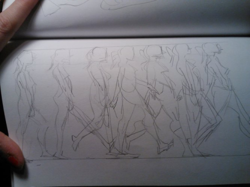 ictorthegreat:  Walking is hard to draw.