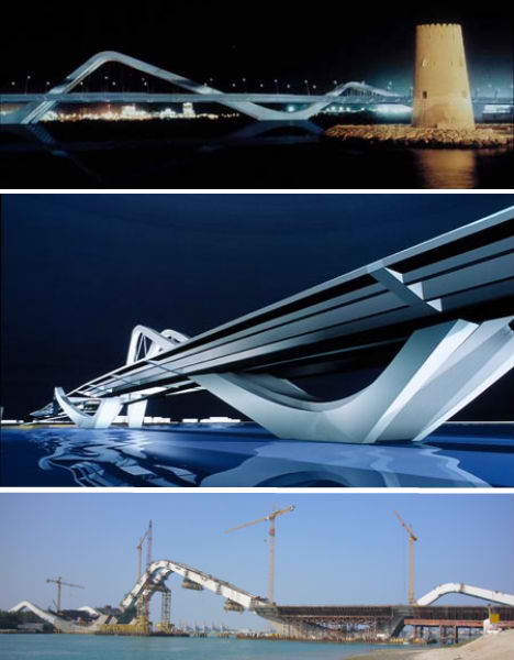 Sheikh Zayed Bridge in Abu Dhabi by world famous architect Zaha Hadid. Awesome Architecture!