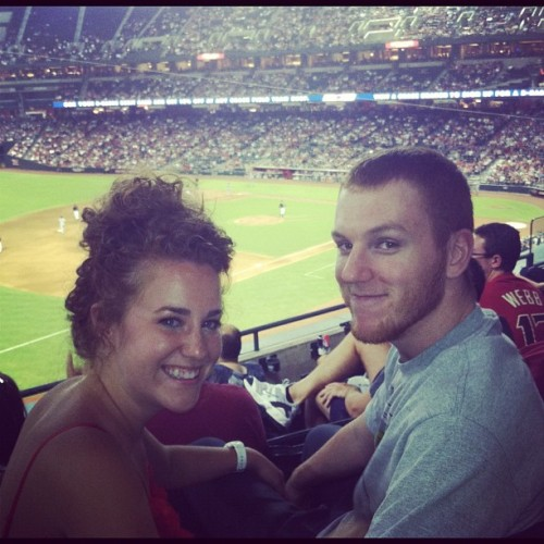 #Dbacks game last summer #redheadlovin #boyfriend (Taken with Instagram)