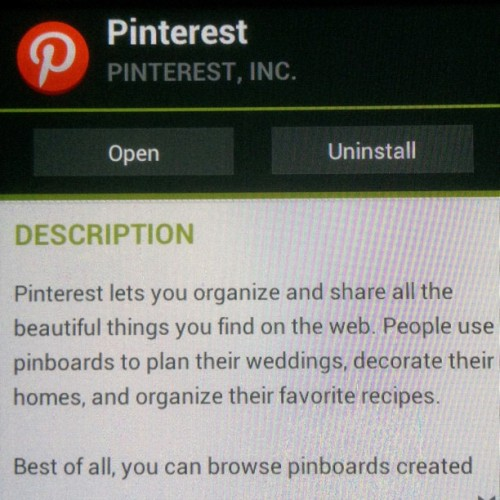 Pinterest has finally been released for #Android & iPad. #app #socialnetwork #pinning (Taken with Instagram)
