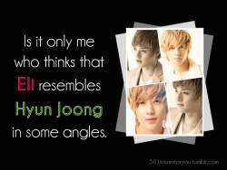 Is it only me who thinks that Eli resembles Hyun Joong in some angles.