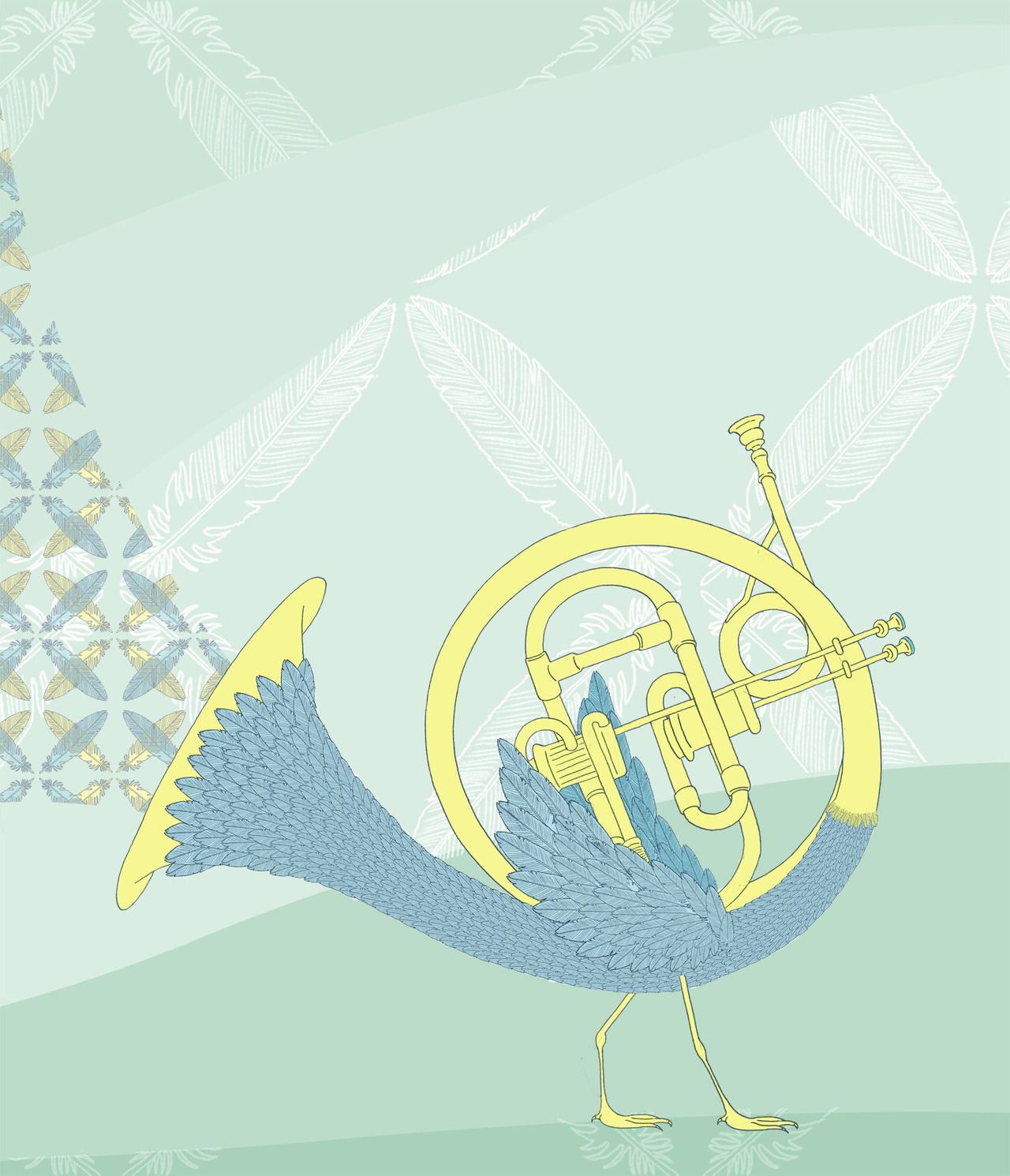 The feathered Trumpet. Garryhannah.org twitter.com/gh84z