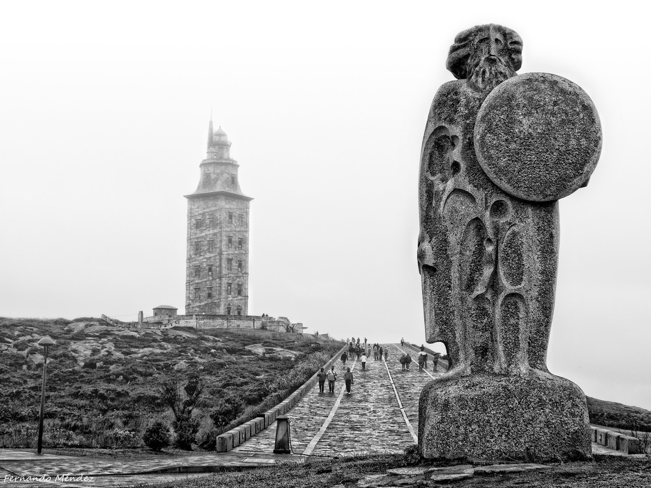 Even older than the Hagia Sophia is the second century Torre de Hércules in Galicia, Spain. Excluding tombs (which, in a sense, are always occupied) perhaps only one or two other continually used buildings in the world are old as this lighthouse. (photograph by Fernando Méndez)