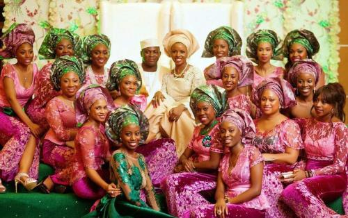 fuckyeaafricans:  iamforevernigerian:  Nigerian brides and their bridesmaids…  African Fashion