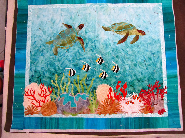 Undersea Quilt by Tracey Lipman on Flickr.