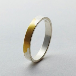 j-tondo:   the best rings are the ones that mean something. the silver on these rings rub off after time, and reveals the 18 karat gold ring beneath the silver. the point of the ring is to show that the longer love lasts, the more powerful and beautiful it is.  That's pretty dope